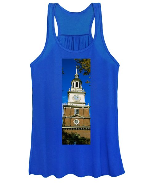 Low Angle View Of A Clock Tower Women's Tank Top