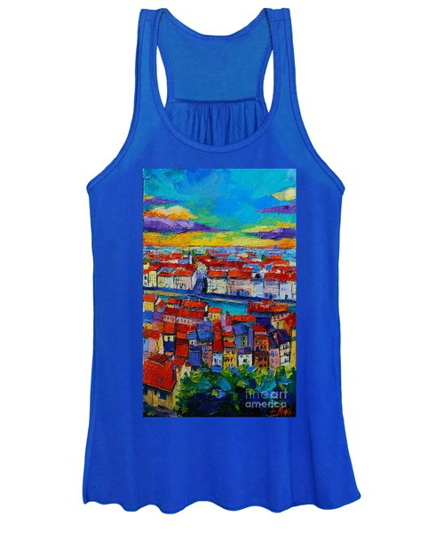 Lyon View - Triptych Center Panel Women's Tank Top