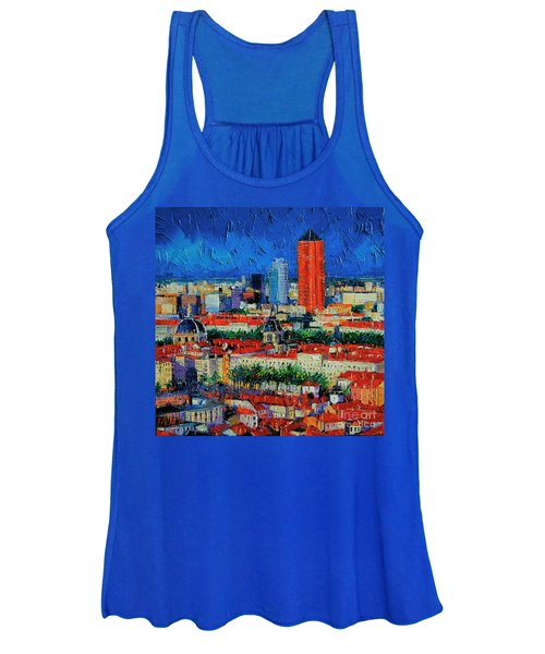 Lyon View From Jardins Des Curiosites  Women's Tank Top