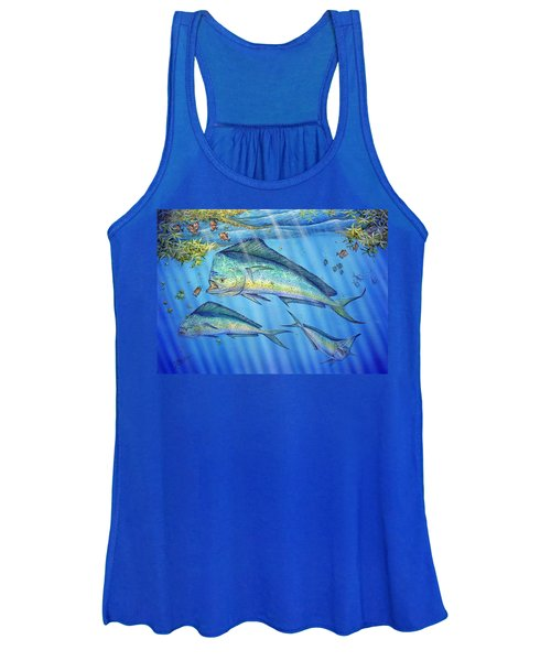 Mahi Mahi In Sargassum Women's Tank Top