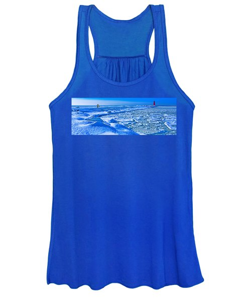 Manistique Lighthouse In Winter, Upper Women's Tank Top