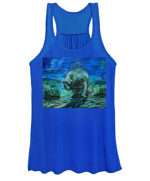 Momma Manatee Women's Tank Top
