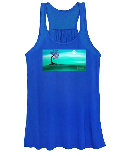 Moonlit Palm Women's Tank Top