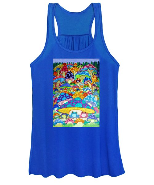 More Frogs Toads And Magic Mushrooms Women's Tank Top