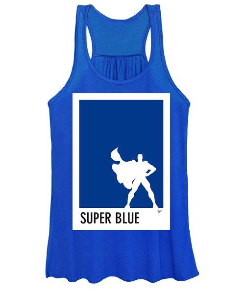 My Superhero 03 Super Blue Minimal Poster Women's Tank Top