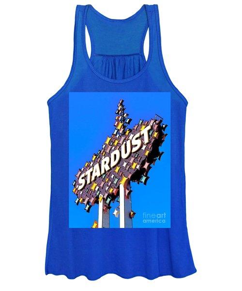 Original Stardust Casino Neon In Las Vegas Pop Art Women's Tank Top