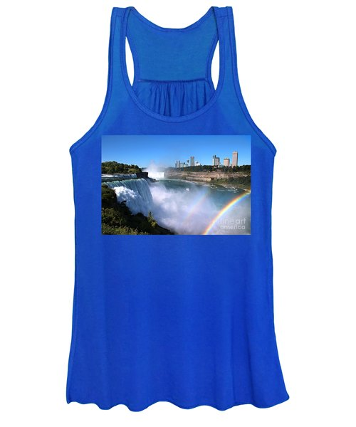Niagara Falls Double Rainbow Women's Tank Top
