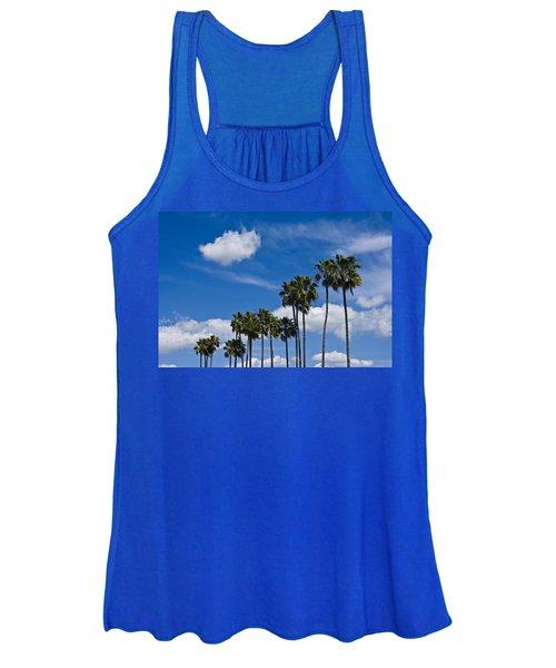 Palm Trees In San Diego California No. 1661 Women's Tank Top