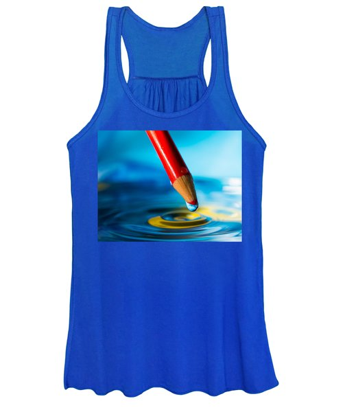 Pencil Water Drop Women's Tank Top