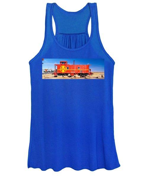 Red Santa Fe Caboose, Arizona Women's Tank Top