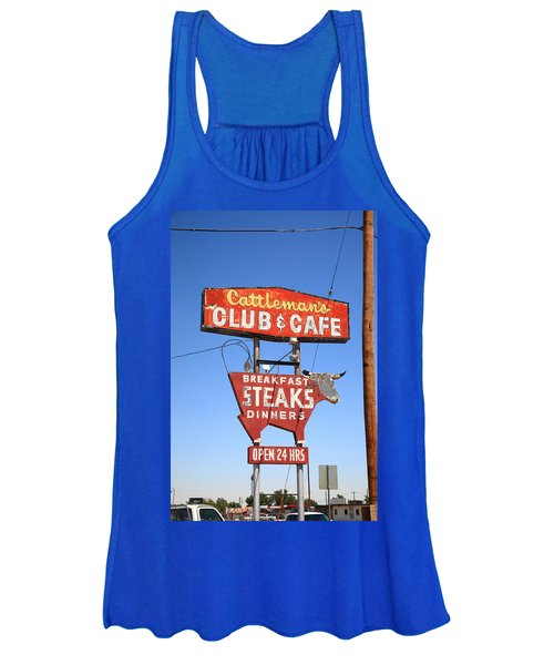 Route 66 - Cattleman's Club And Cafe Women's Tank Top