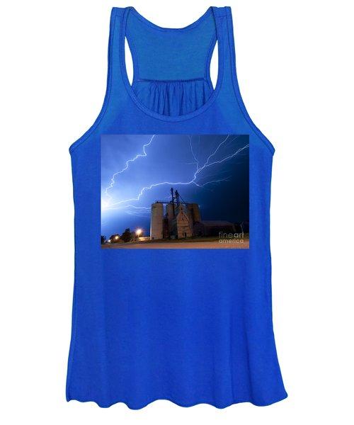Rural Lightning Storm Women's Tank Top