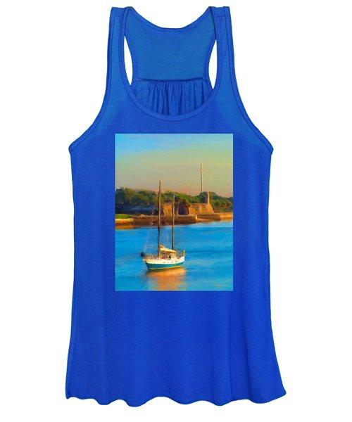 Da147 Sailboat By Daniel Adams Women's Tank Top