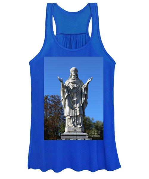 Saint Martin Statue At Lourdes Women's Tank Top