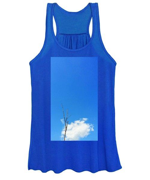 Solitude - Blue Sky Art By Sharon Cummings Women's Tank Top