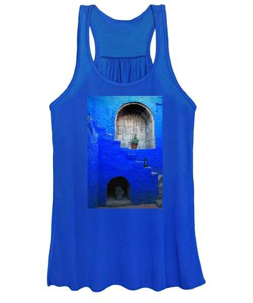 Staircase In Blue Courtyard Women's Tank Top