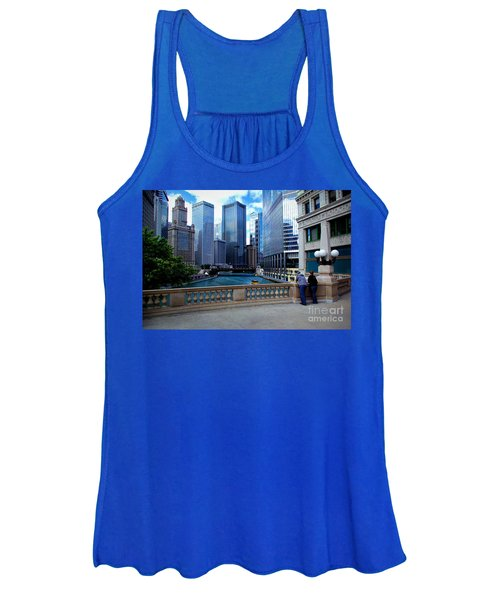 Summer Breeze On The Chicago River - Color Women's Tank Top
