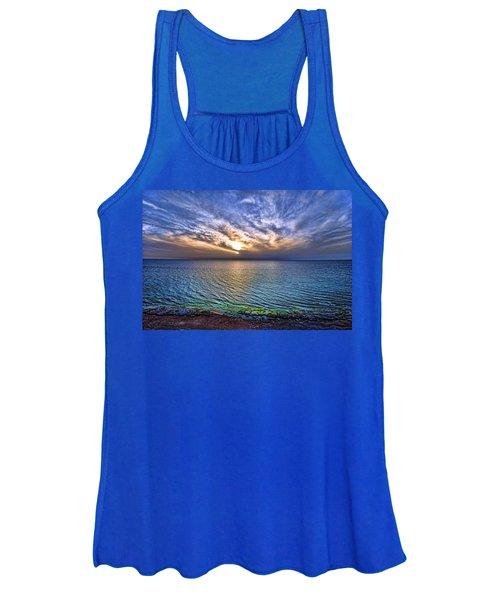 Sunset At The Cliff Beach Women's Tank Top