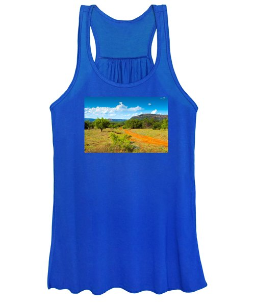 Texas Hill Country Red Dirt Road Women's Tank Top