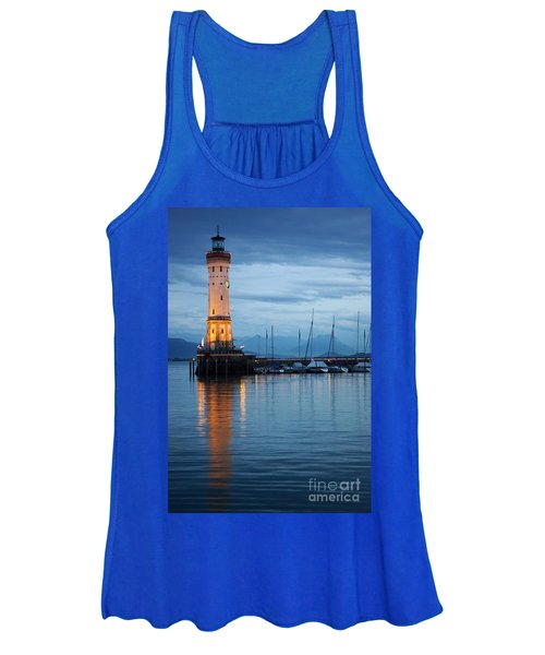The Lighthouse Of Lindau By Night Women's Tank Top