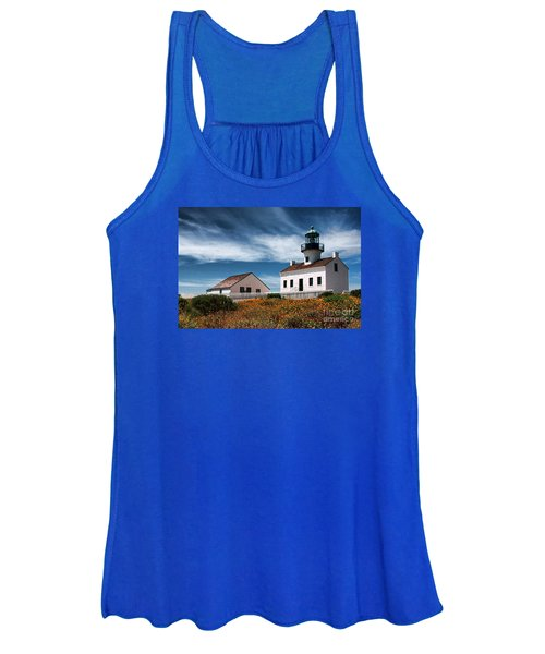 The Old Point Loma Lighthouse By Diana Sainz Women's Tank Top