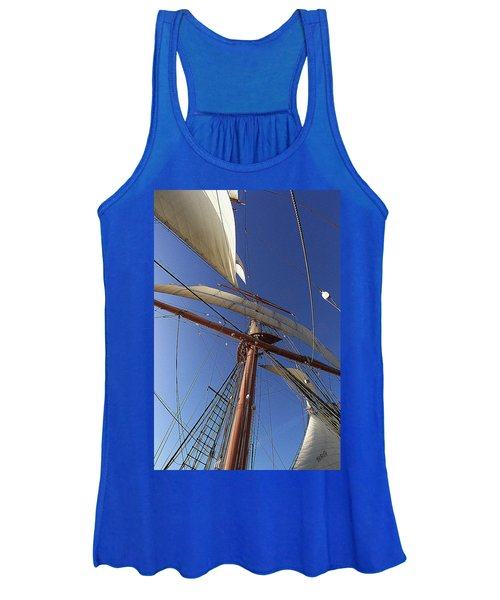 The Star Of India. Mast And Sails Women's Tank Top