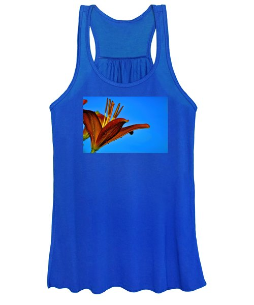 Thirsty Lily In Hdr Art  Women's Tank Top