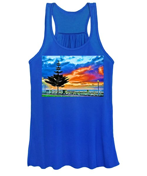 Tree And Sunset Women's Tank Top