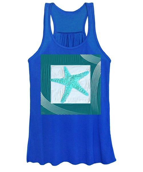 Turquoise Seashells Xvi Women's Tank Top