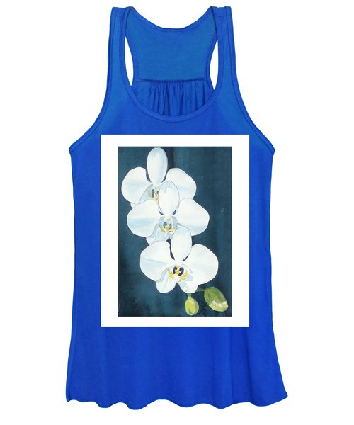 White Orchids Women's Tank Top