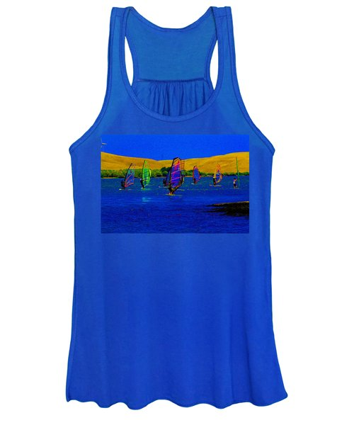 Wind Surf Lessons Women's Tank Top