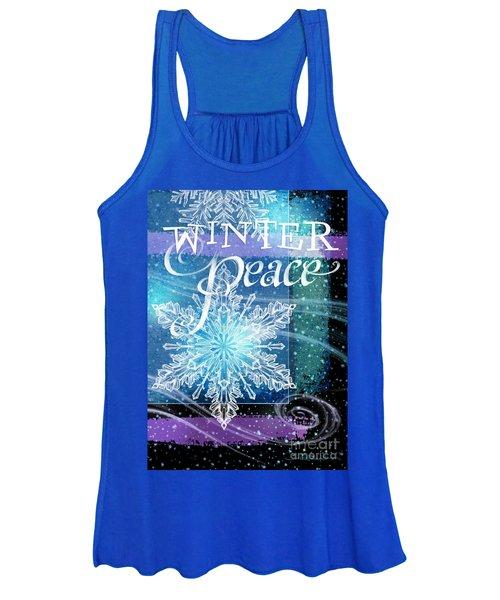 Winter Peace Greeting Women's Tank Top