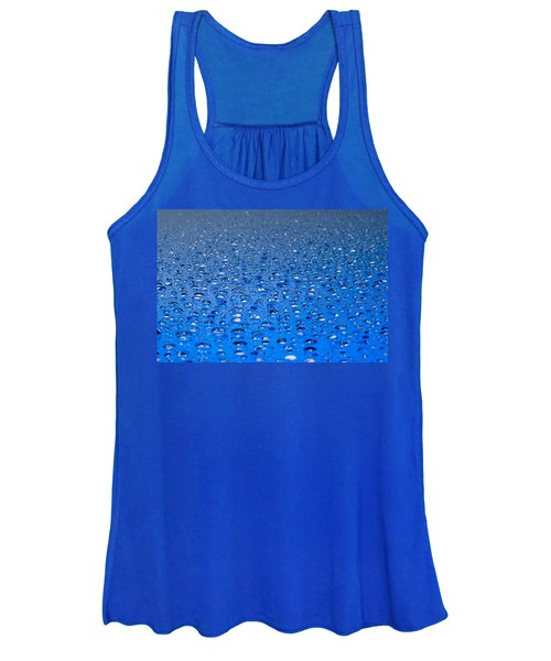 Water Drops On A Shiny Surface Women's Tank Top
