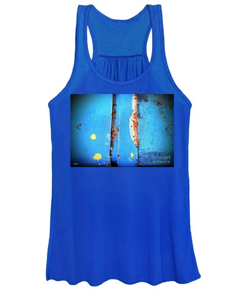 Blue Abstract Women's Tank Top
