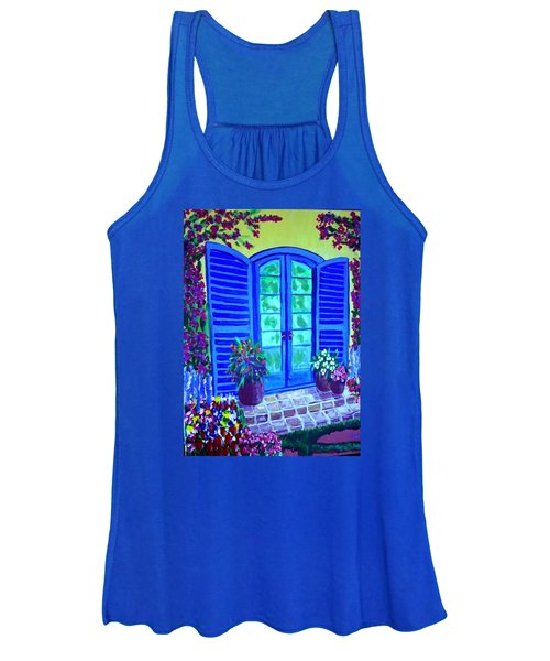 Blue Shutters Women's Tank Top