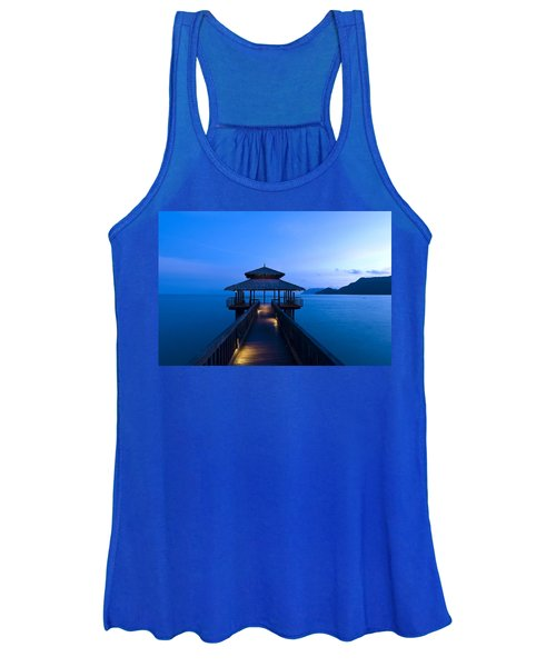 Building At The End Of A Jetty During Twilight Women's Tank Top
