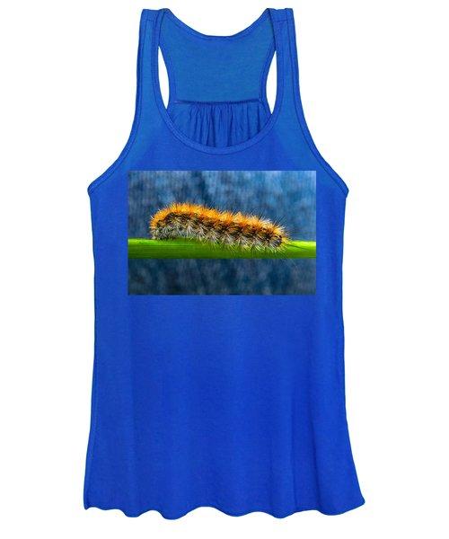 Butterfly Caterpillar Larva On The Stem Women's Tank Top