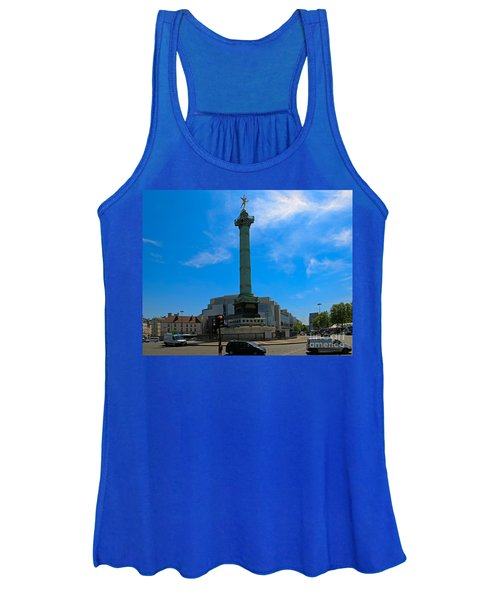 Colonne De Juillet And Opera De Paris Bastille Women's Tank Top