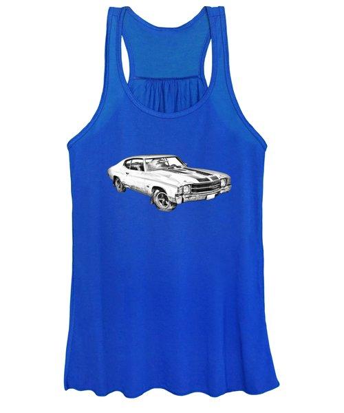 1971 Chevrolet Chevelle Ss Illustration Women's Tank Top