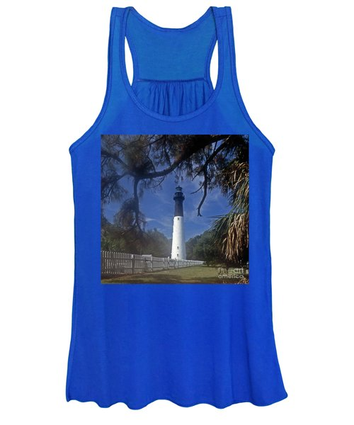 Lh 8-3 Hunting Island Lighthouse Sc Women's Tank Top