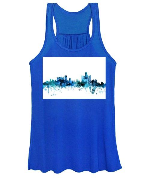 Detroit Michigan Skyline Women's Tank Top