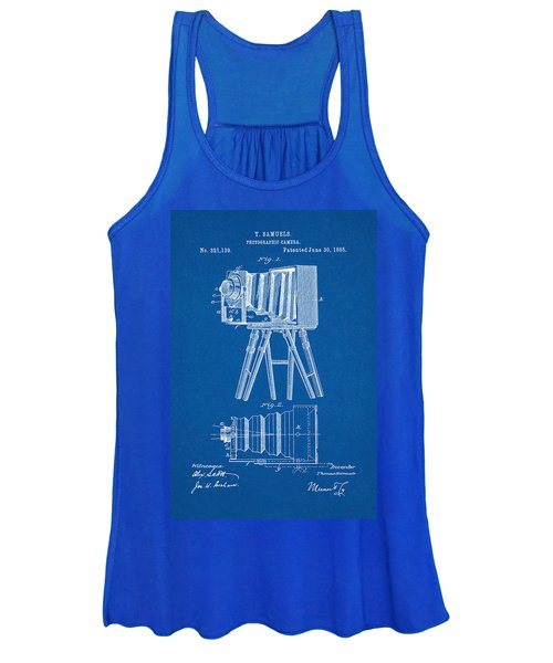 1885 Camera Us Patent Invention Drawing - Blueprint Women's Tank Top