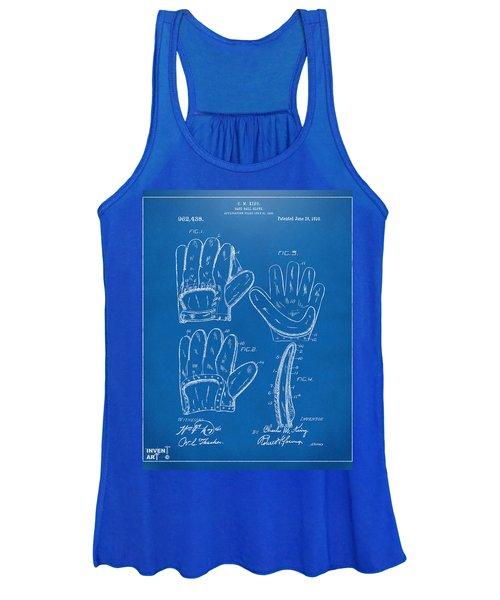 1910 Baseball Glove Patent Artwork Blueprint Women's Tank Top