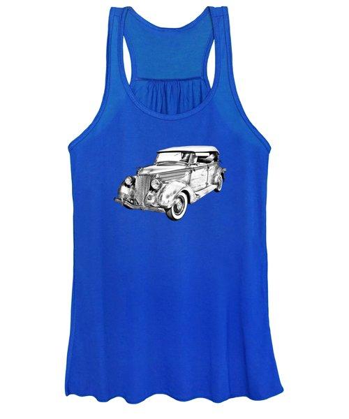 1936 Ford Phaeton Convertible Illustration  Women's Tank Top