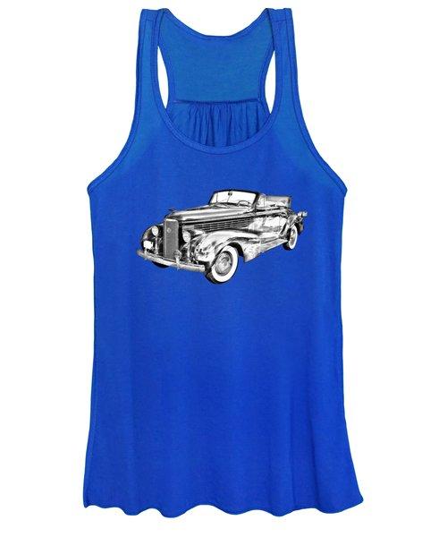 1938 Cadillac Lasalle Illustration Women's Tank Top