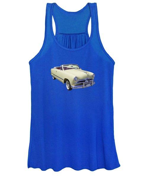 1949 Ford Custom Deluxe Convertible Women's Tank Top