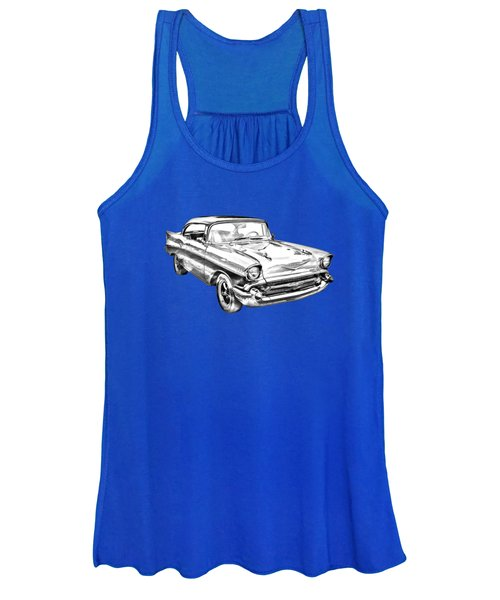 1957 Chevy Bel Air Illustration Women's Tank Top