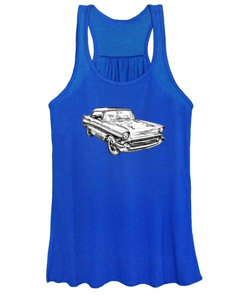 1957 Chevy Bel Air Illustration Women's Tank Top