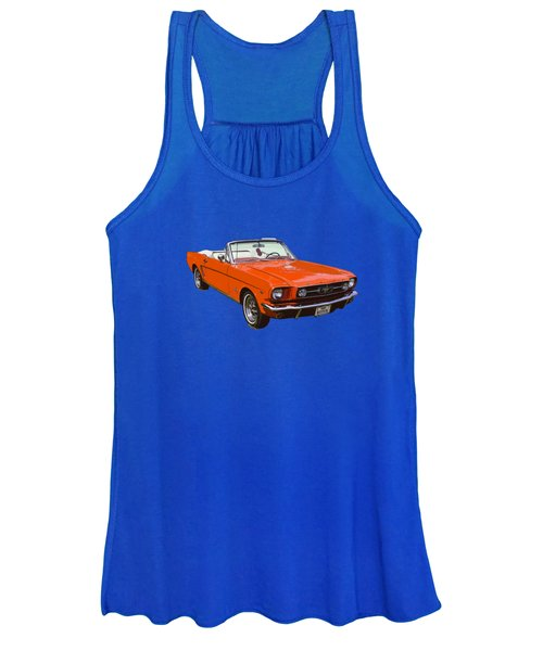 1965 Red Convertible Ford Mustang - Classic Car Women's Tank Top