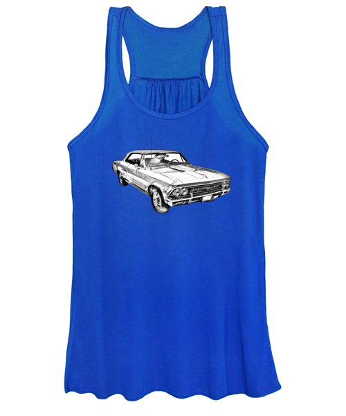 1966 Chevy Chevelle Ss 396 Illustration Women's Tank Top